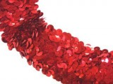 "Wholesale Stretch Sequin Trim - Red 1 1/2"" - 36 yard"