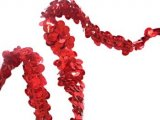 Stretch Sequins Trim- Red 3/4""