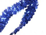 Stretch Sequins Trim- Royal 3/4""