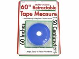 Sullivans Retractable Tape Measure, Blue 60""