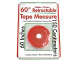 Sullivans Retractable Tape Measure, Red 60""