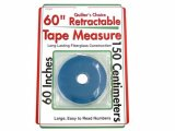 Sullivans Retractable Tape Measure, Teal 60""