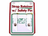 Sullivans- Strap Retainer W/Safety Pin, White
