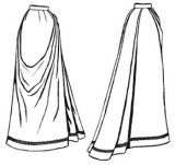 Truly Victorian #294 - 1891 French Fan Skirt - Historical Belle Epoche Pattern
