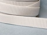 Ribbed Woven Non-Roll Elastic - White 3/4""