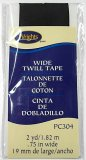 "Wrights Wide Twill Tape #304 - Black #031  -  3/4"" wide"
