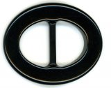 Buckles-Lucite Buckle Black I