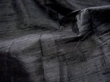 Silk Dupioni Fat Quarter - Black