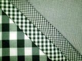 Gingham Check- Hunter Green/ White