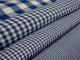 Wholesale Gingham Check Fabric - Navy, 20yds