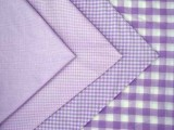 Wholesale Gingham Check Fabric - Lilac, 20yds