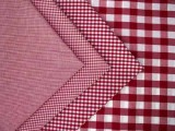 Wholesale Gingham Check Fabric - Red, 20yds