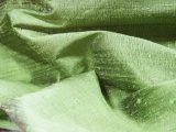 Silk Dupioni Fat Quarter - Parrot Green