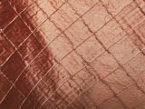 Pintuck Silk Dupioni Fabric - Persimmon