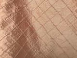 Pintuck Silk Dupioni Fabric - Rose Gold
