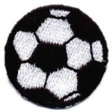 Applique - Soccer Ball Embroidered, 1-3/8""