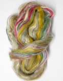 Merino Wool and Silk Tussah Roving - Green