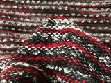 IF176-01 Red-White-Black Shimmer Yarn-woven Jacket Fabric