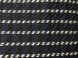 IF176-39  Navy with Black and White Yarn-Woven Shimmer Wool Suiting Fabric