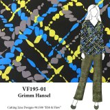 VF195-01 Grimm Hansel - Large Abstract Print on Stretch Cotton BroadclothVF195-01 Grimm Hansel - Large Abstract Print on Stretch Cotton Broadcloth Fabric