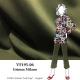 VF195-06 Grimm Milano - Superior Loden Green Ponte di Roma Double Knit Fabric - 300GSM