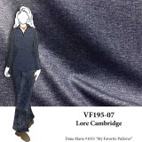 VF195-07 Lore Cambridge - Dark Indigo Double Jersey Fabric with Super Soft Face