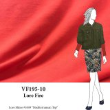 VF195-10 Lore Fire - Flame Red Cotton Spandex T-Shirt Jersey Knit Fabric