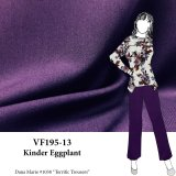VF195-13 Kinder Eggplant Dark Purple Felix Stretch Gabardine Suiting Fabric