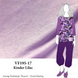 VF195-17 Kinder Lilac Cotton T-Shirt Jersey Knit Fabric