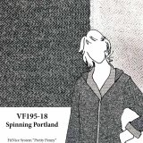 VF195-18 Spinning Portland Cotton Herringbone Sweatshirt Fleece Knit Fabric by Telio