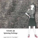 VF195-20 Spinning Etchings Rose Grey Rayon Knit Fabric