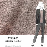 VF195-23 Spinning Heather Briar Rose and Grey Lightweight Sweater Knit Fabric