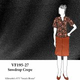 VF195-27 Snowdrop Crepe - Black Bubble Crepe Georgette Fabric