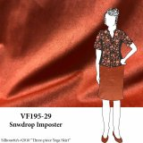 VF195-29 Snowdrop Imposter - Pumpkin Sueded Knit Fabric
