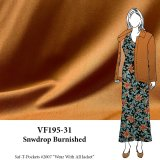 VF195-31 Snowdrop Burnished - Cognac Felix Stretch Gabardine Fabric