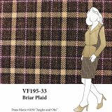 VF195-33 Briar Plaid - Brown and Camel with Pink Worsted Flannel Suiting Fabric