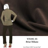 VF195-35 Briar Milano - Superior Espresso Brown Ponte di Roma Double Knit Fabric 300GSM