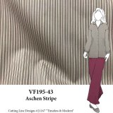 VF195-43 Aschen Stripe - Grey-Light Taupe-Magenta Cotton Shirting Fabric