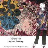 VF195-45 Aschen Fantasy - Unique Printed Stretch Denim Fabric