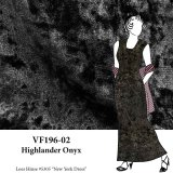 VF196-02 Highlander Onyx - Black Crushed Stretch Velvet Fabric