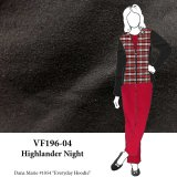 VF196-04 Highlander Night - Black Plush Cotton Flannel Fabric from Robert Kaufman