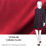 VF196-08 Culloden Scarlet - Dark Red Supple Ponte di Roma Double Knit Fabric - 10oz