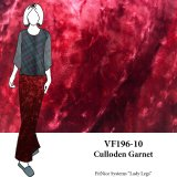 VF196-10 Culloden Garnet - Dark Red Crushed Stretch Velvet Fabric