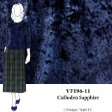 VF196-11 Culloden Sapphire - Navy Crushed Stretch Velvet Fabric