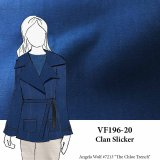 VF196-20 Clan Slicker - Teal and Black Cotton Rainwear Fabric
