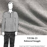 VF196-23 Balmoral Snuggle - Light Grey Heathered Cotton Sweatshirt Fleece Fabric - Extra Wide