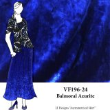 VF196-24 Balmoral Azurite - Royal Crushed Stretch Velvet Fabric