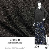 VF196-26 Balmoral Cozy - Flecked Charcoal Sweater Knit Fabric