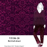VF196-28 Revival Abstract - Two-tone Magenta Lightweight Rayon Fabric