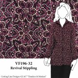 VF196-32 Revival Stippling - Magenta Abstract Pebble Crepe Polyester Print Fabric